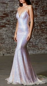 Sequin pink formal gown,evening prom pageant dress